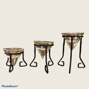 3 Different levelled candle holders